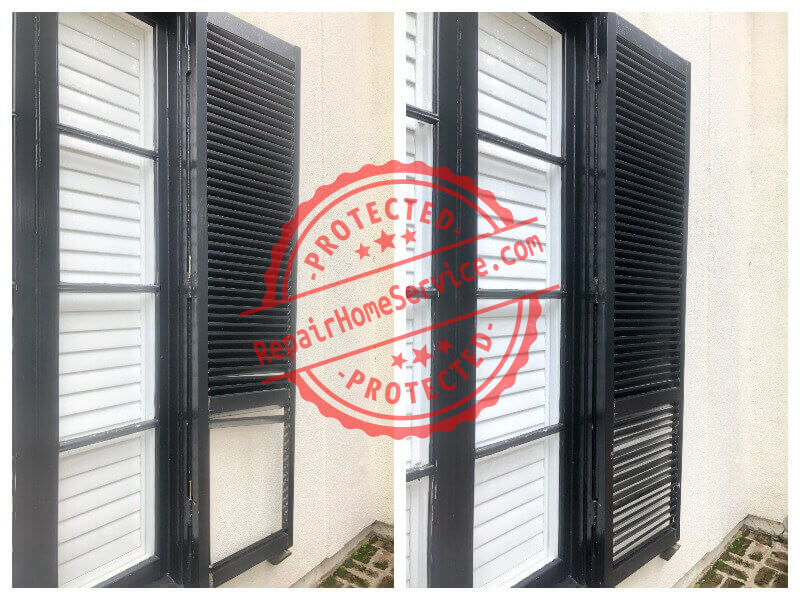 window shutters restoration and repair