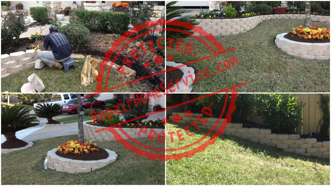 outdoor landscape work