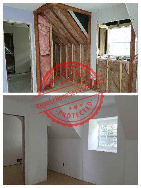 sheetrock, insulation and floor installation